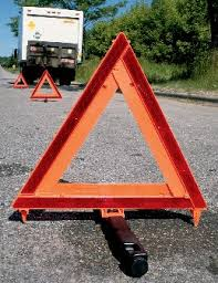 emergency kit - reflective hazard triangles